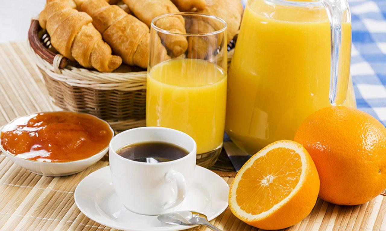 Oranje ontbijt